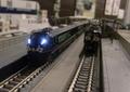 「鉄道喫茶ぽぷら」でのNゲージお召し列車の運転