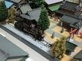 神社境内で静態保存されている蒸気機関車