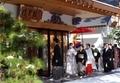 西野神社 神前結婚式での参進