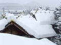 西野神社の社殿側面(積雪期)