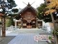 西野神社の拝殿正面(七五三看板)