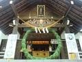 西野神社の拝殿向拝(茅の輪)
