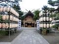 西野神社の拝殿正面(奉納提灯)