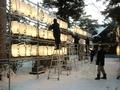 令和2年末の西野神社 参道での作業
