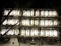 令和2年末の西野神社 奉納提灯点灯