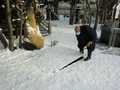 令和2年末の西野神社 融雪機起動
