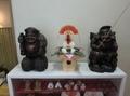 令和3年 西野神社元日 渡り廊下に飾られた鏡餅