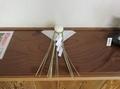 令和3年 西野神社元日 祈祷控え室に飾られたお餅と輪締め
