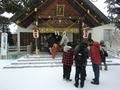 令和3年 西野神社元日 拝殿前