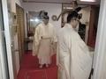 令和3年 西野神社元日 歳旦祭直前の祭員達