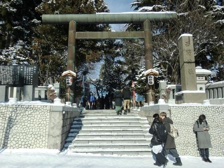 令和3年 西野神社元日 鳥居