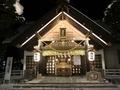 令和3年 西野神社三が日 社殿ライトアップ