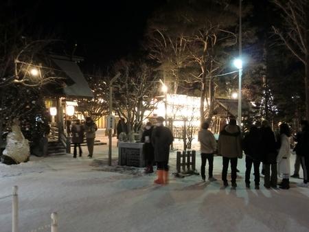令和3年 西野神社三が日の境内