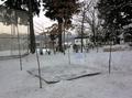 令和3年1月上旬 西野神社 どんど焼き斎場準備