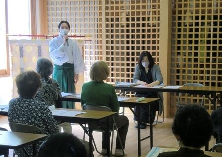 令和3年 西野神社敬神婦人会 総会(新入職員紹介)