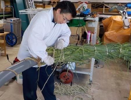 令和3年 西野神社 夏越大祓「茅の輪」作成作業