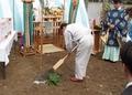 西野神社が執行する地鎮祭