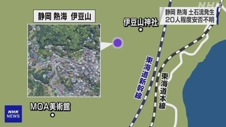 熱海市伊豆山の位置図