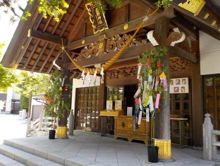 西野神社 拝殿向拝(令和3年7月)