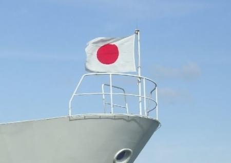 船上の日の丸