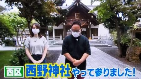 HTB「イチオシ!!」令和3年8月2日放送 (西野神社参道)