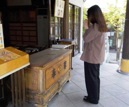 西野神社でのお参り