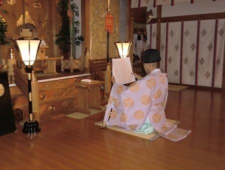 西野神社大前での祝詞奏上