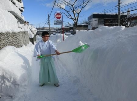 歩道の除雪