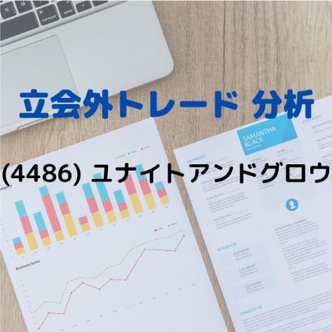 立会外トレード分析(4486)ユナイトアンドグロウ