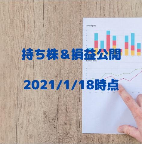持ち株&損益公開(2021/1/18時点)
