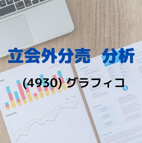 立会外分売分析(4930)グラフィコ