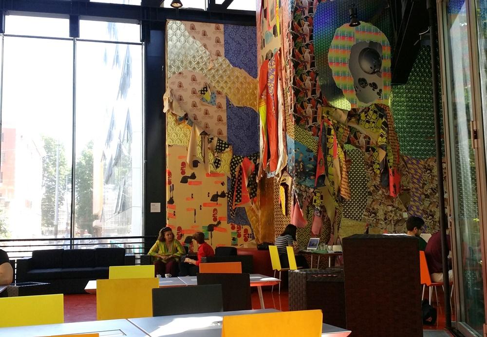 ローマ現代美術館(MACRO)のカフェ