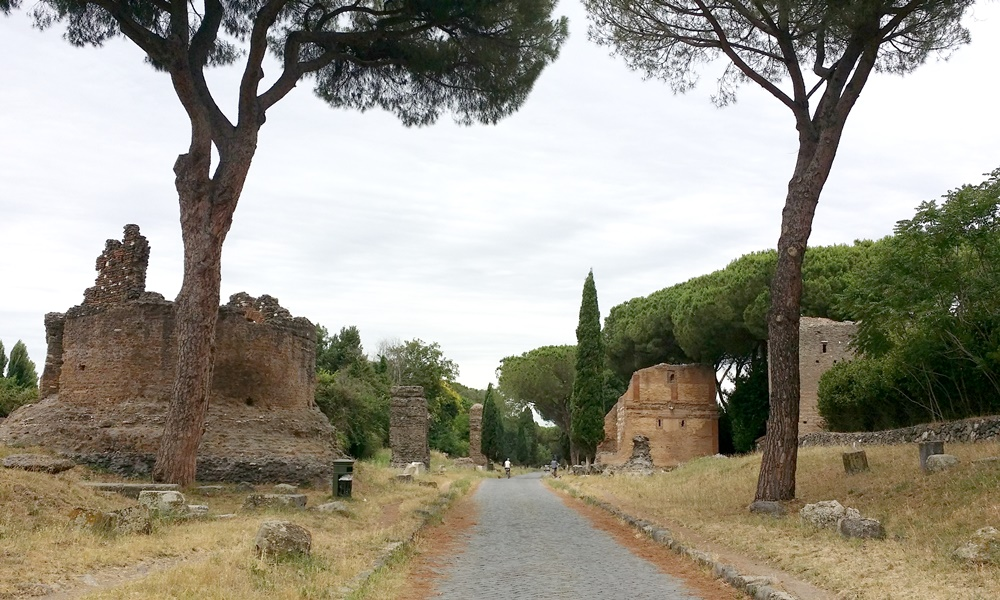 アッピア街道沿いの遺跡