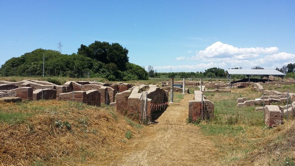 オスティア・アンティカの外れの遺跡