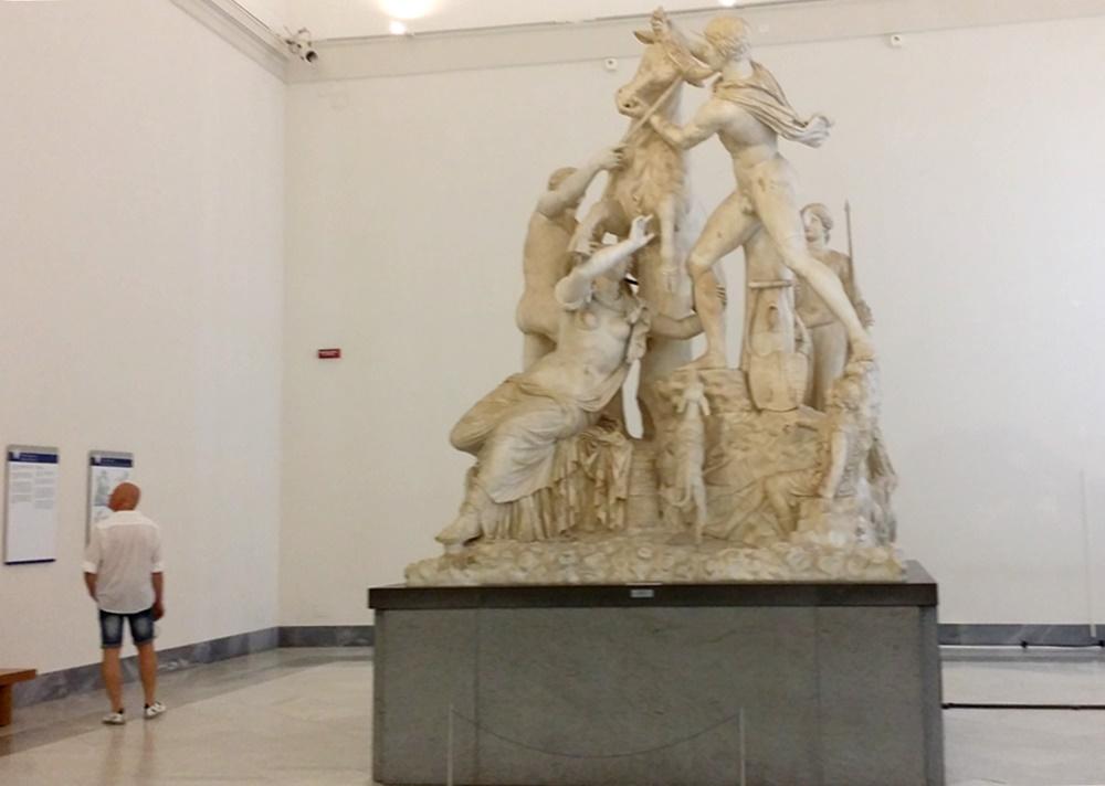 ナポリ考古学博物館の石膏像