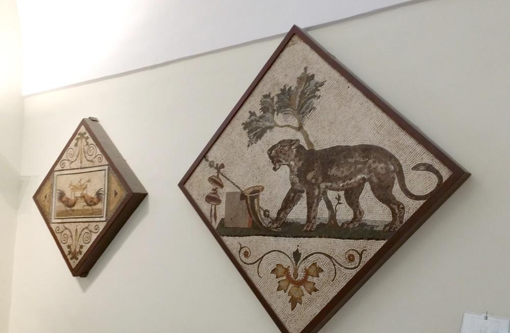 ナポリ考古学博物館のモザイクの部屋