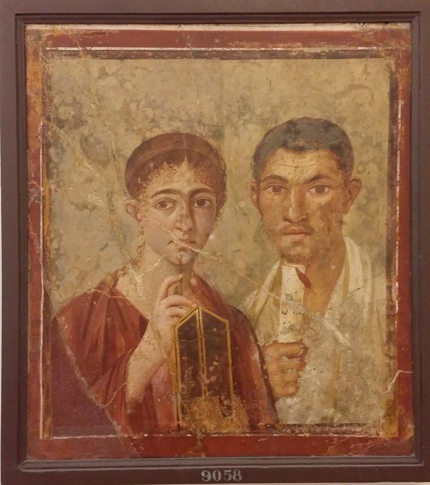 ナポリ考古学博物館のフレスコ画