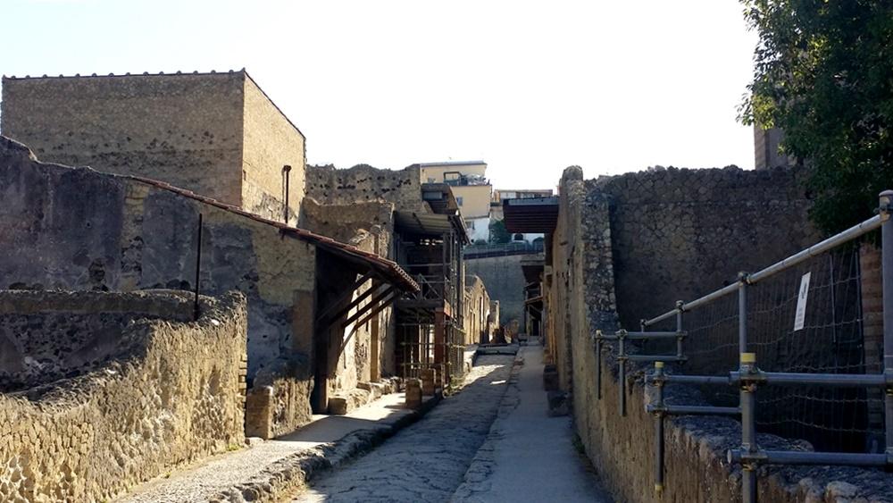 エルコラーノ遺跡の内部