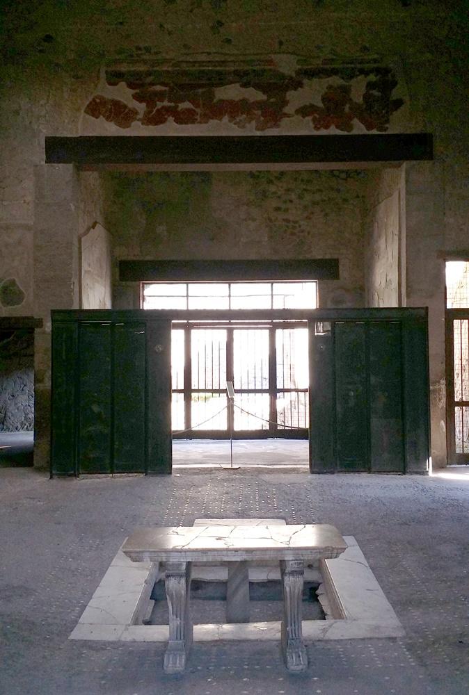 エルコラーノ遺跡の屋内