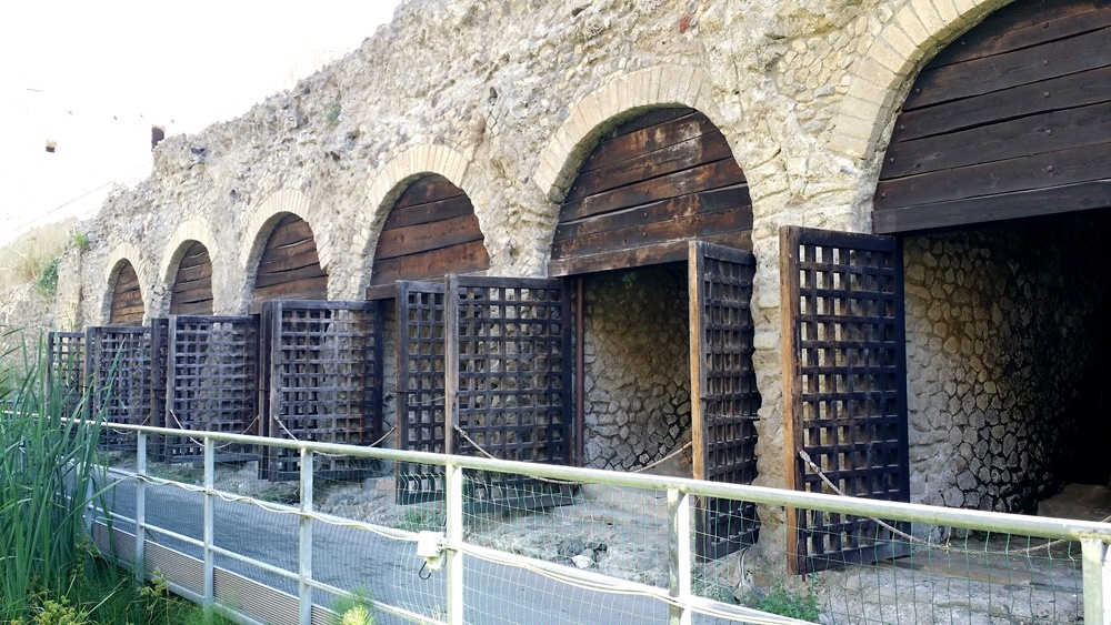 エルコラーノ遺跡の骨の部屋