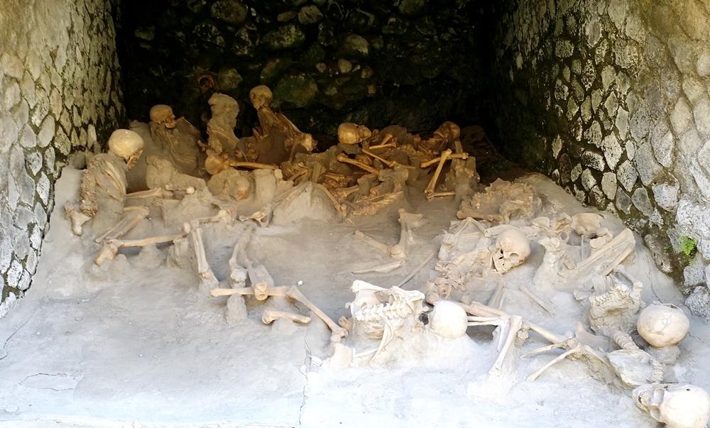 エルコラーノ遺跡の骨