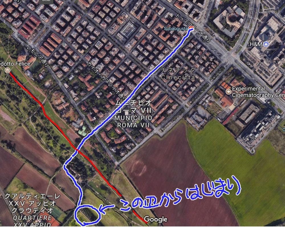 ローマ水道橋公園の地図