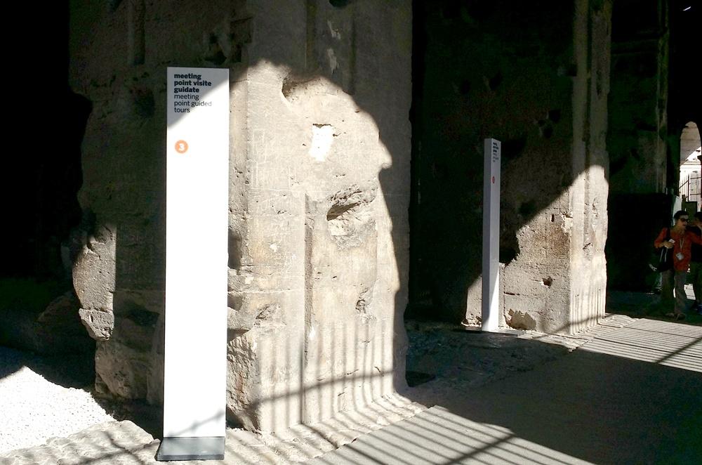 コロッセオ地下ツアーミーティングポイント