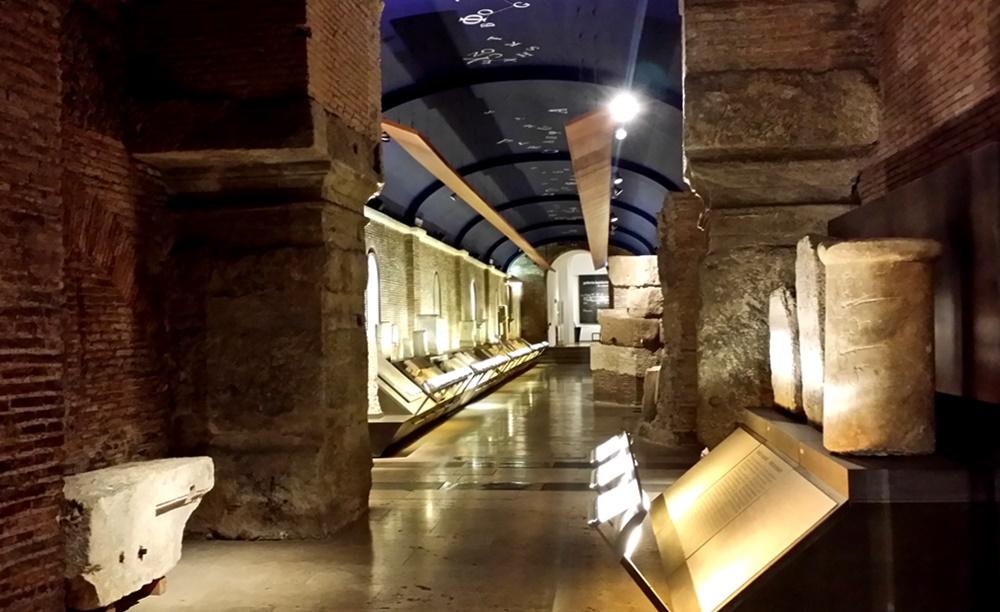 ローマ市庁舎の地下