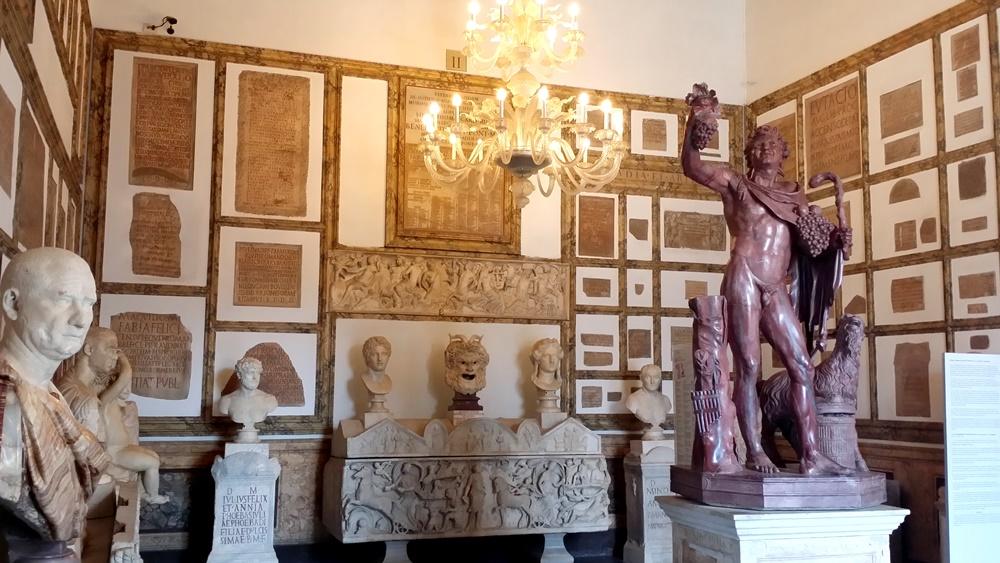 カピトリーニ美術館新館の部屋