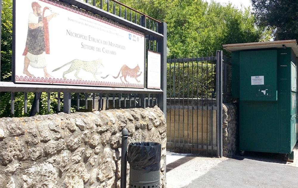 ネクロポリの入り口