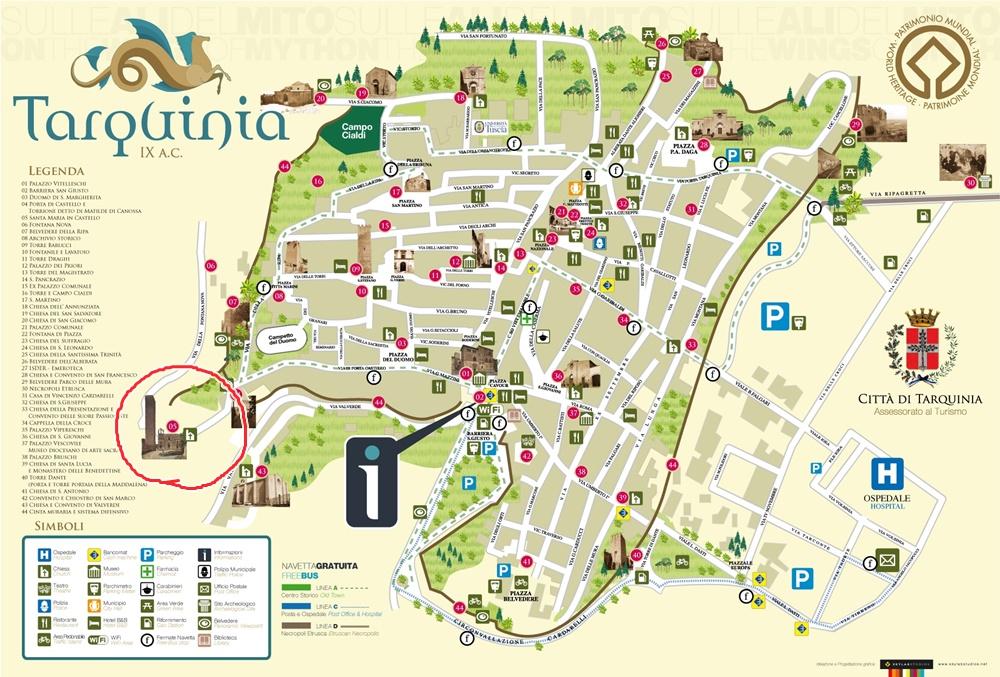 タルクィニアの地図