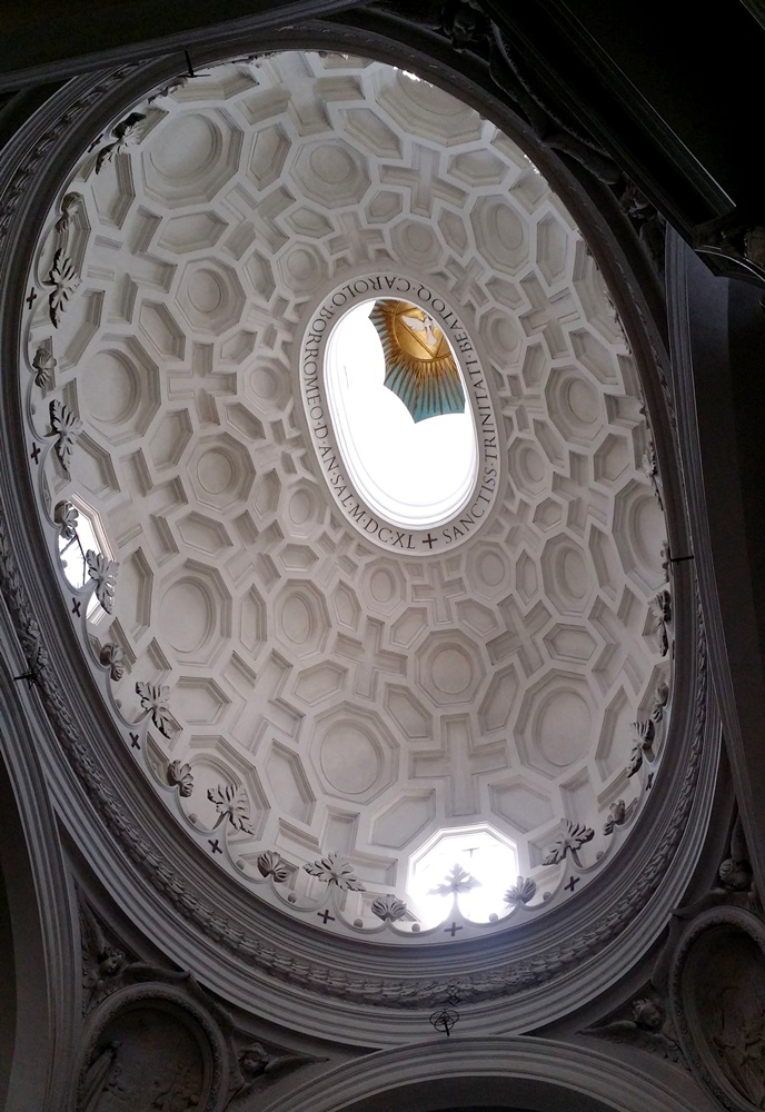 サン・カルロ・アッレ・クアットロ・フォンターネ教会の天井
