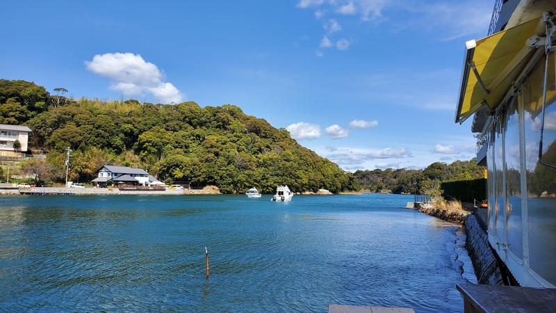 らーめんカフェ ワコーから見る浜名湖
