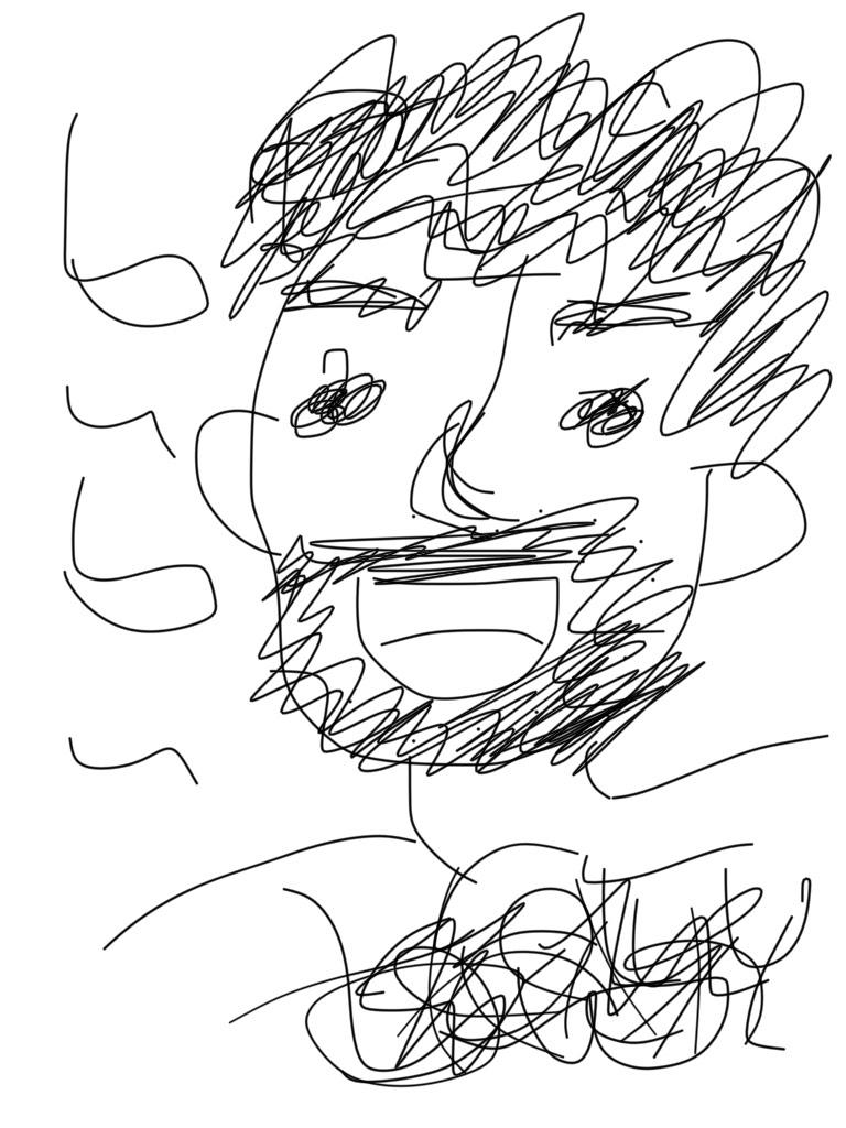 著者の似顔絵